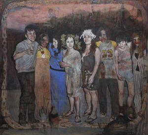 Silvia Flechoso | Las borrachas (oil on canvas, 200x200cm, 2020)