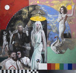Silvia Flechoso | Lohengrin (oil on canvas, 200x200cm, 2020)