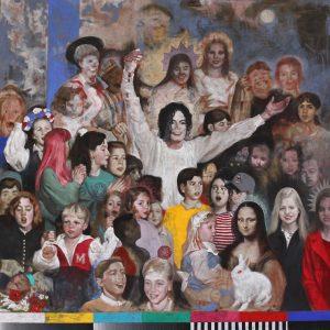Silvia Flechoso | Matthew 19.14 (oil on canvas, 200x200cm, 2020)
