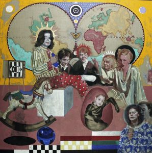 Silvia Flechoso | POP (oil on canvas, 200x200cm, 2020)
