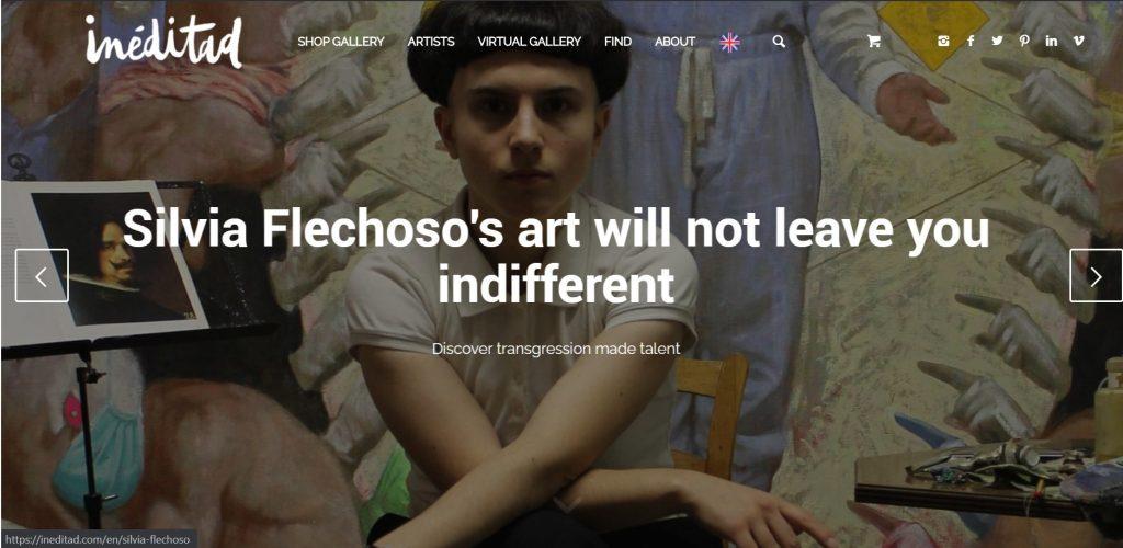 Contemporary spanish artistsilvia flechoso artista contemporáneo transgresor